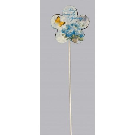 Dřevěná dekorace - květ