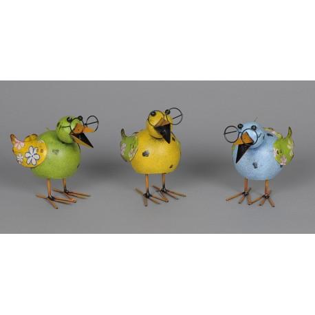 Pták plechový - b. žlutá