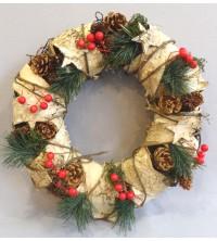 Věnec vánoční bříza