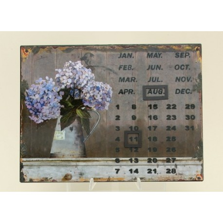 Kalendář  - kytice hortenzie