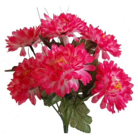 Chryzantéma kytice  - růžovo-bílá