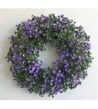 Věnec buxus fialový