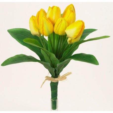 Tulipán svazek  - žlutá
