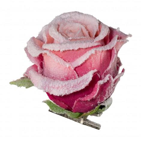 Dekorace růže na klipsu