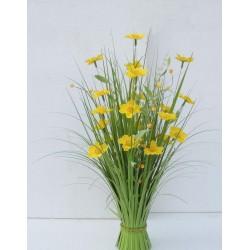 Dekorační tráva kvetoucí žlutá