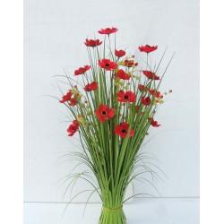 Dekorační tráva kvetoucí červená