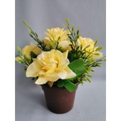 Růže v květináči/ žlutá