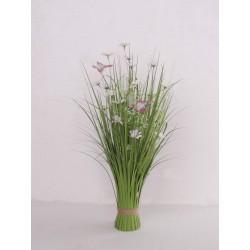 Dekorační tráva kvetoucí bílá