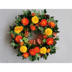 Věnec chryzantémy