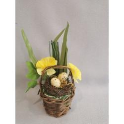 Jarní dekorace - košíček