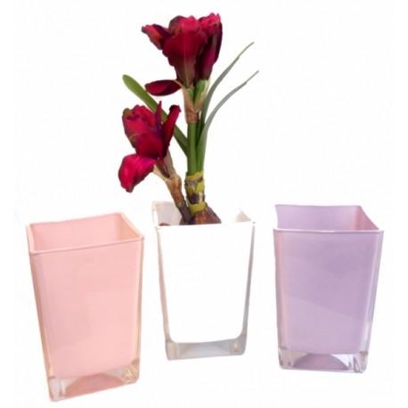 Obal skleněný  - růžová