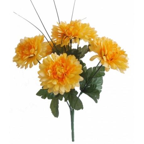 Chryzantéma kytice  - žlutá