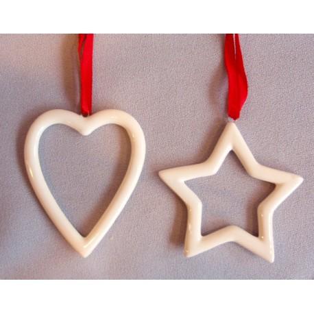 Dekroace vánoční  - srdce